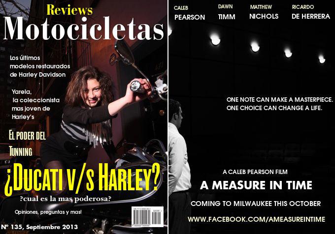 Harley Davidson in Santiago de Chile and a Movie Short Film Poster in Prairie du Sac by Caleb Pearson